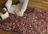 Kaleen Brooklyn Xander-02 Red Area Rug Lifestyle Shot Feature