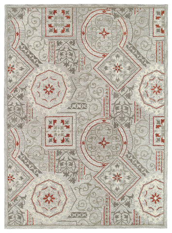 Kaleen Brooklyn Xander-02 Pewter Area Rug main image