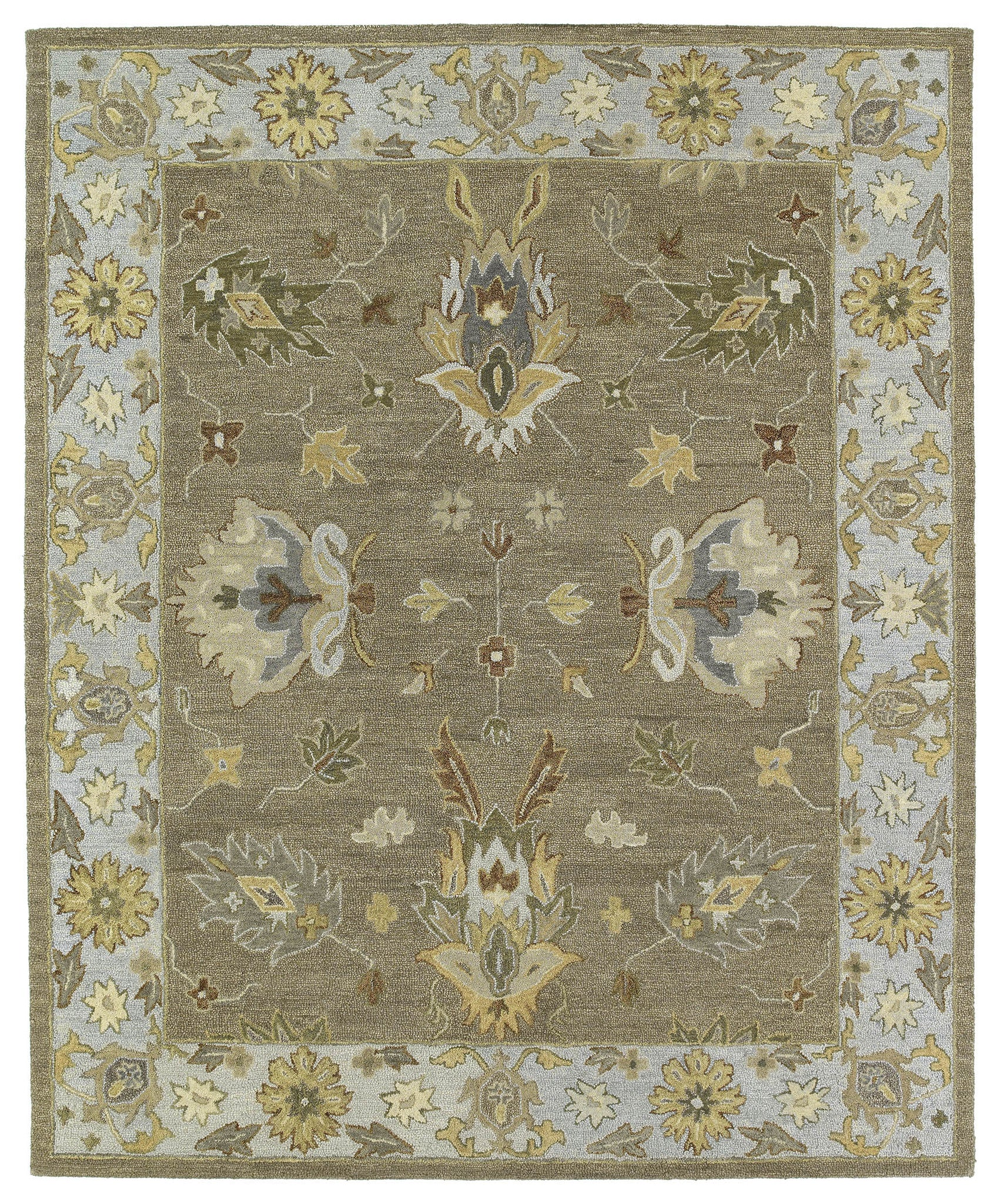 Kaleen Brooklyn Delaney-03 Mocha Area Rug
