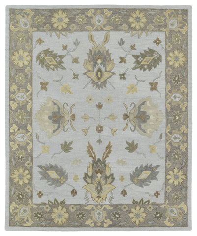 Kaleen Brooklyn Delaney-03 Silver Area Rug