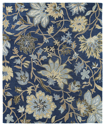 Kaleen Brooklyn Brody-04 Blue Area Rug