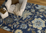 Kaleen Brooklyn Brody-04 Blue Area Rug Lifestyle Shot