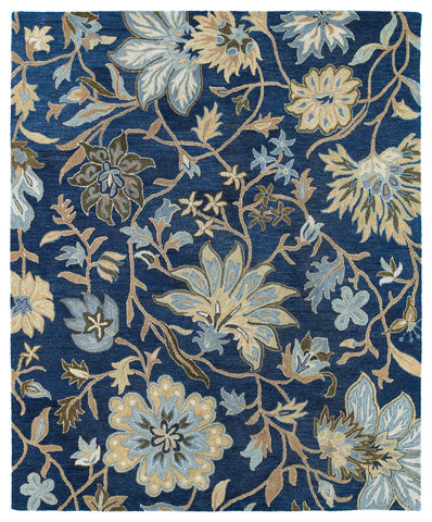 Kaleen Brooklyn Brody-04 Blue Area Rug main image