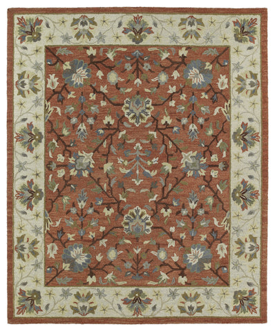 Kaleen Brooklyn Keaton-05 Brick Area Rug
