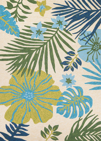 Couristan Covington Summer Laelia Ivory/Fern Area Rug