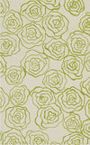Rug Market America CO Deco Rose Green Ivory/Green Area 5' 0'' X 8' 0''