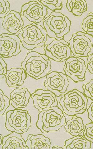 Rug Market America CO Deco Rose Green Ivory/Green Area main image
