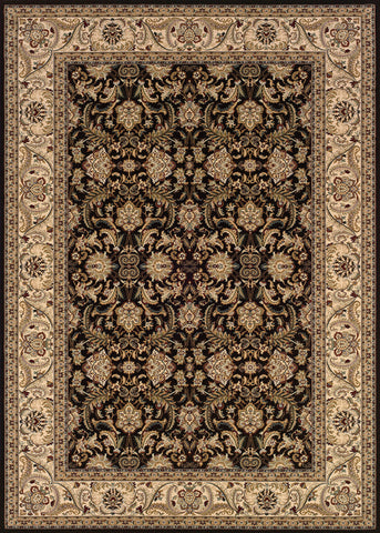 Couristan Himalaya Isfahan Ebony/Antique Creme Area Rug