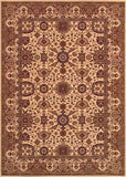 Couristan Himalaya Kailash Antique Cream/Persian Red Area Rug