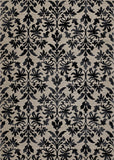 Couristan Everest Retro Damask Grey/Black Area Rug