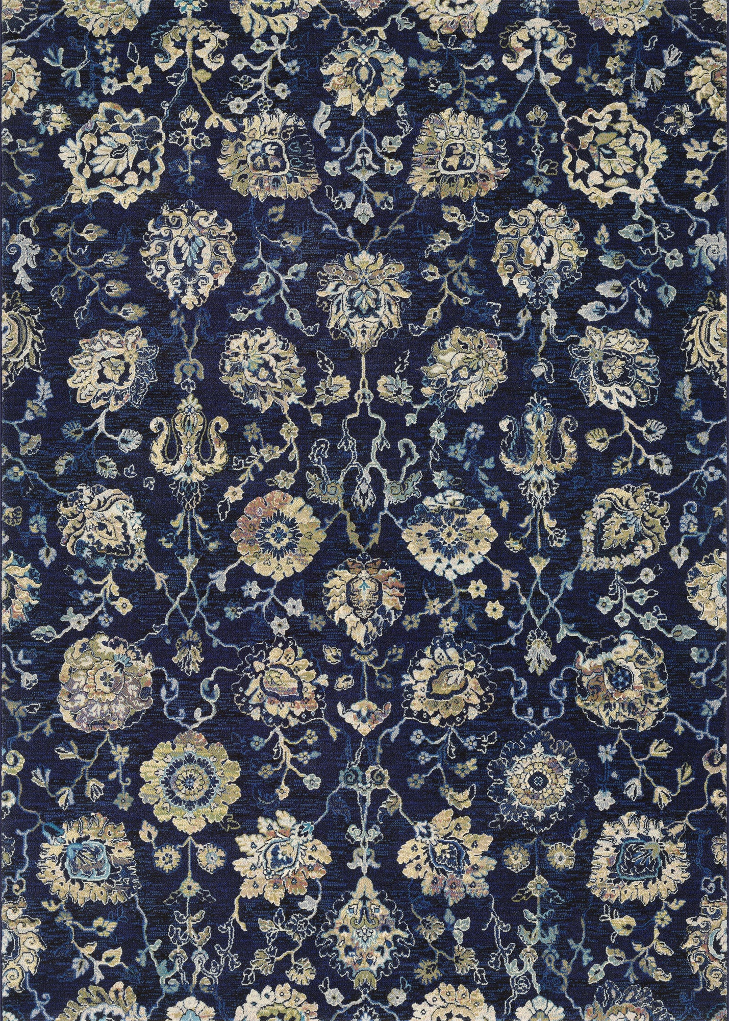 Couristan Easton Adaline Navy/Cream Area Rug