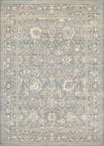 Couristan Everest Persian Arabq Charcoal/Ivory Area Rug
