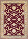 Couristan Cadence Cantata Ruby/Cream Area Rug