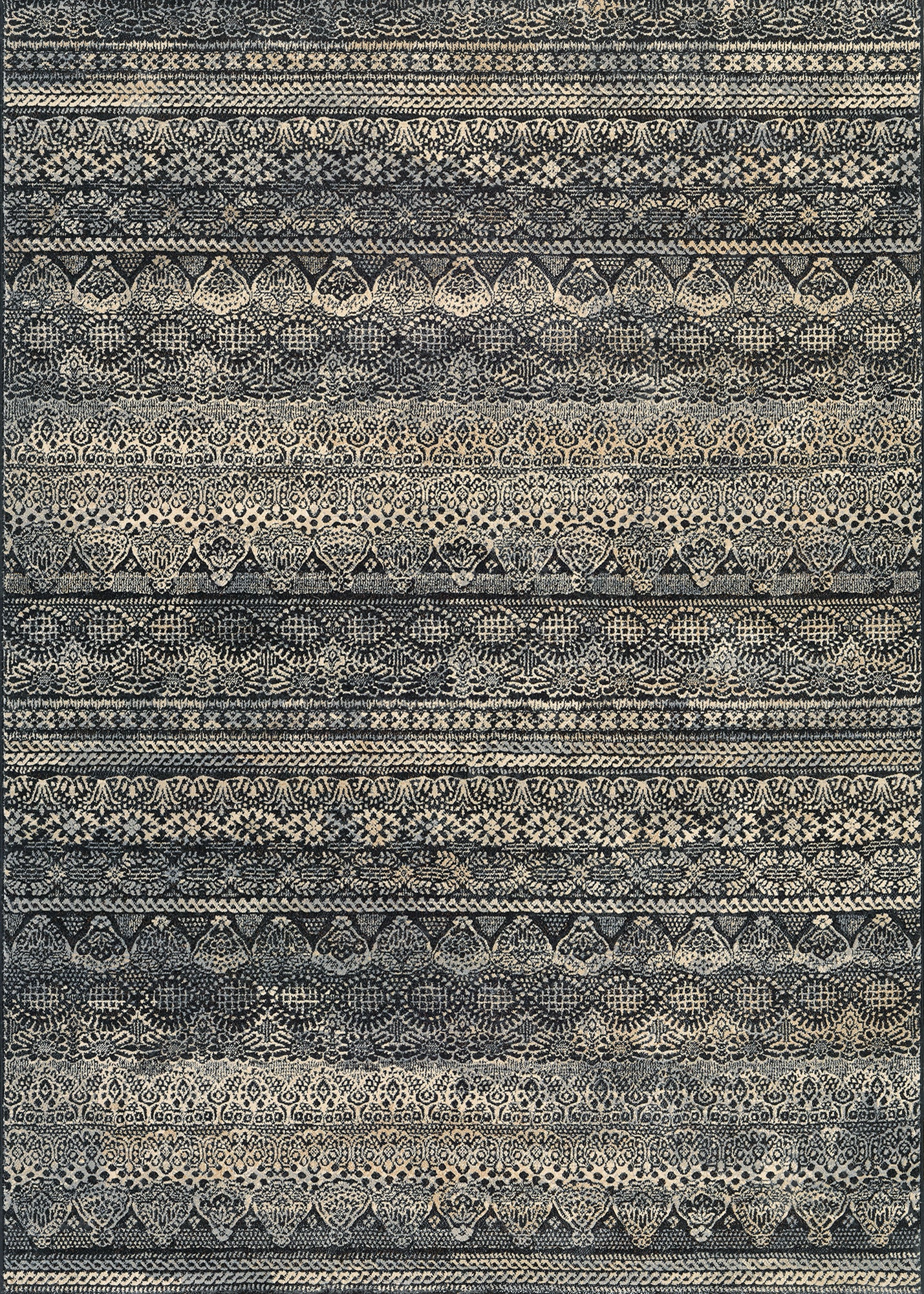 Couristan Easton Capella Black/Grey Area Rug