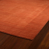 Kaleen Regency 7000-31 Pumpkin Area Rug Close-up Shot