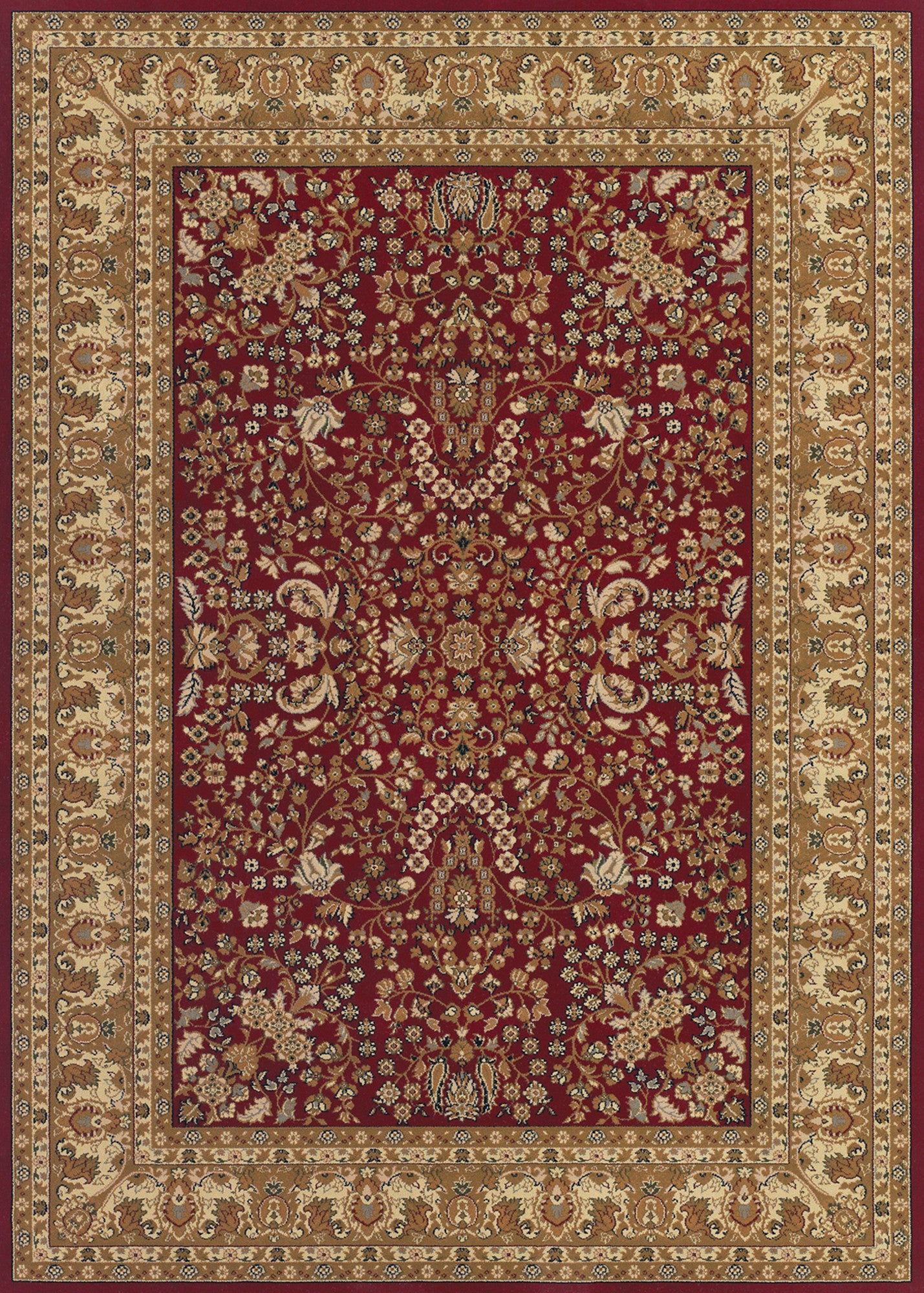 Couristan Izmir Floral Mashhad Red Area Rug Incredible Rugs And Decor