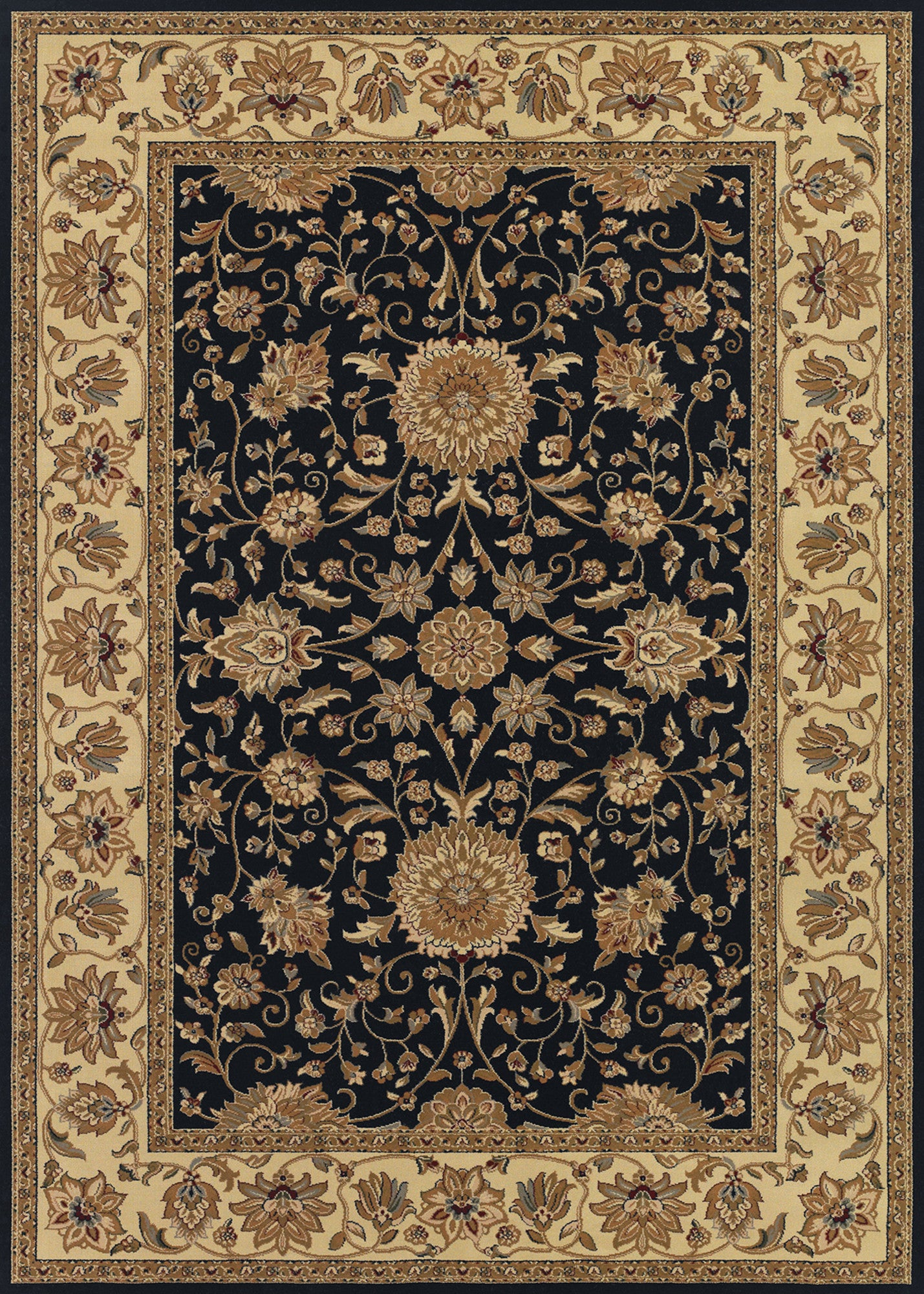 Couristan Izmir Floral Isfahan Black Area Rug Incredible Rugs And Decor