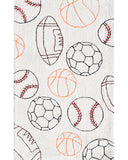 Rug Market America Kids Balls Cream/Black/Red/Orange Area main image