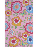 Rug Market America CO Pink Spring Time Pink/Yellow/Green Area 4' 7'' X 7' 7''
