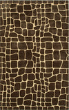 Rug Market America CO Croc Brown Brown/Gold Area main image