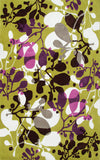Rug Market America Ecconox Sprig Green/Gray/White/Purple Area main image