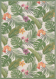 Couristan Dolce Flowering Fern Ivory/Huntrgreen Area Rug