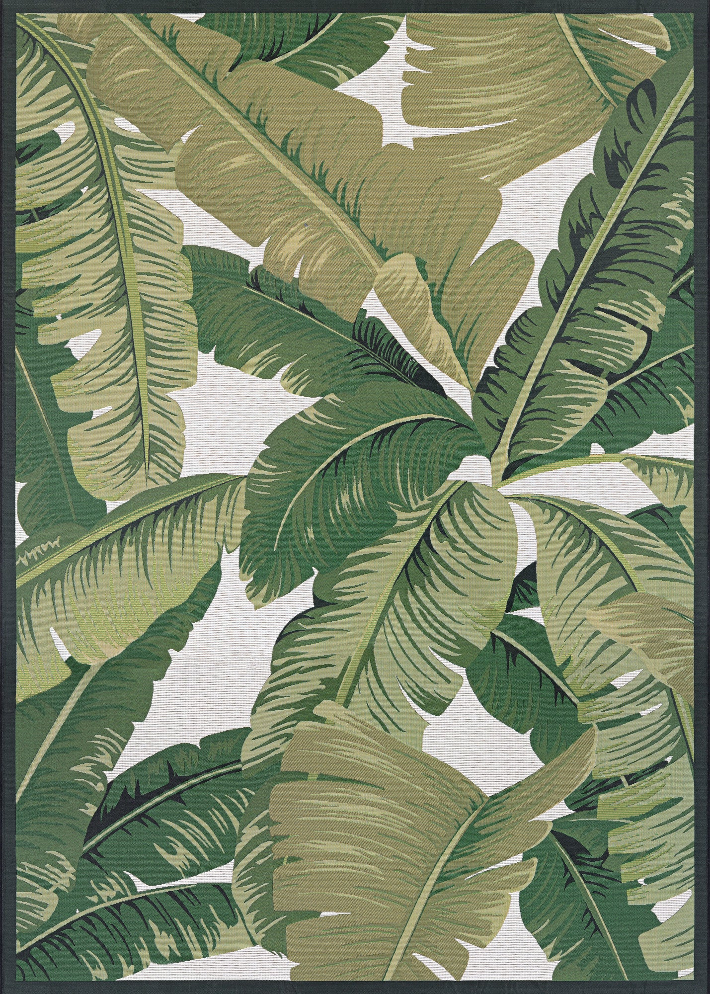 Couristan Dolce Palm Lily Huntrgreen Ivory Area Rug
