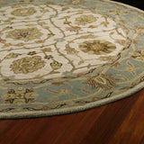 Kaleen Tara Rounds Palma-10 Ivory Area Rug Close-up Shot
