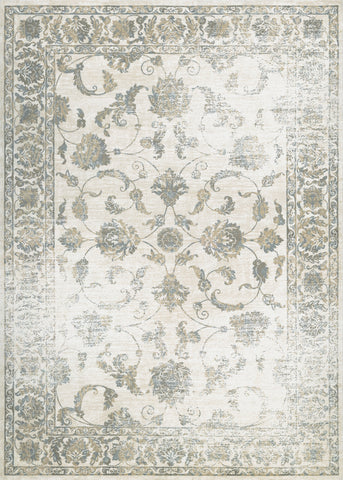 Couristan Provincia Botanic Applique Cream/Beige Area Rug