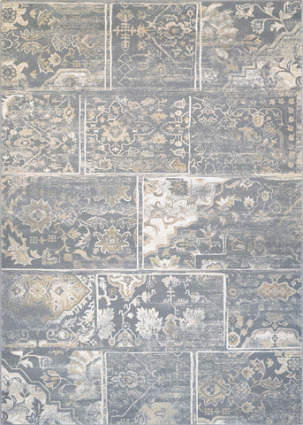 Couristan Provincia Leilani Grey/Cream Area Rug