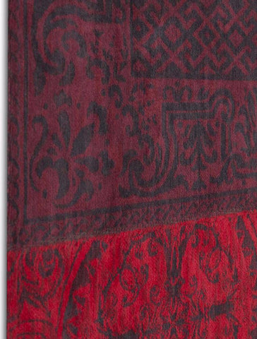 Louis de Poortere Vintage Multi 8014 Red Area Rug Board Shot