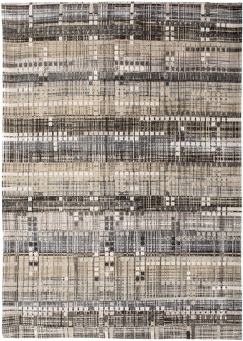Louis de Poortere Mad Men Sky Scraper 8413 Hudson Grey Area Rug main image