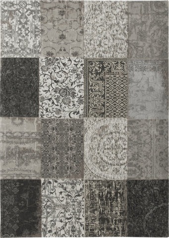 Louis de Poortere Vintage Multi 8101 Black And White Area Rug main image