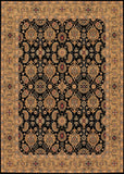 Couristan Royal Kashimar All Over Vase Black/Deep Maple Machine Loomed Area Rug