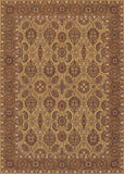 Couristan Royal Kashimar All Over Vase Hazelnut Machine Loomed Area Rug