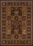 Couristan Royal Kashimar Antique Nain Black Area Rug