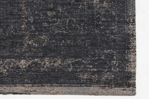 Louis de Poortere Fading World Medallion 8263 Mineral Black Area Rug Corner Shot