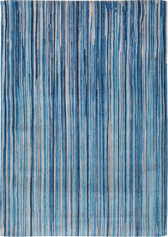 Louis de Poortere Atlantic Ocean 8485 Blue Stripes Area Rug by Marie Bathellier main image