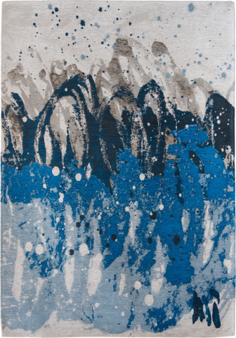 Louis de Poortere Atlantic Surf 8486 Blue Waves Area Rug by Marie Bathellier main image