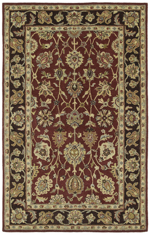 Kaleen Heirloom Deborah-03 Burgundy Area Rug