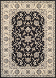 Couristan Everest Rosetta Ebony Area Rug