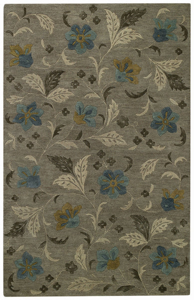 Capel Brock Haven Bluebells 9218 Charcoal 340 Area Rug