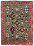 Capel Stairstep 9231 Sage Red 250 Area Rug main image