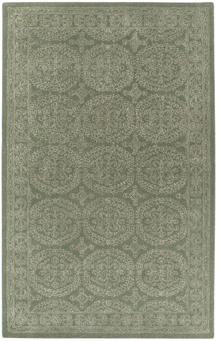 Capel Interlace 9243 Green 225 Area Rug main image