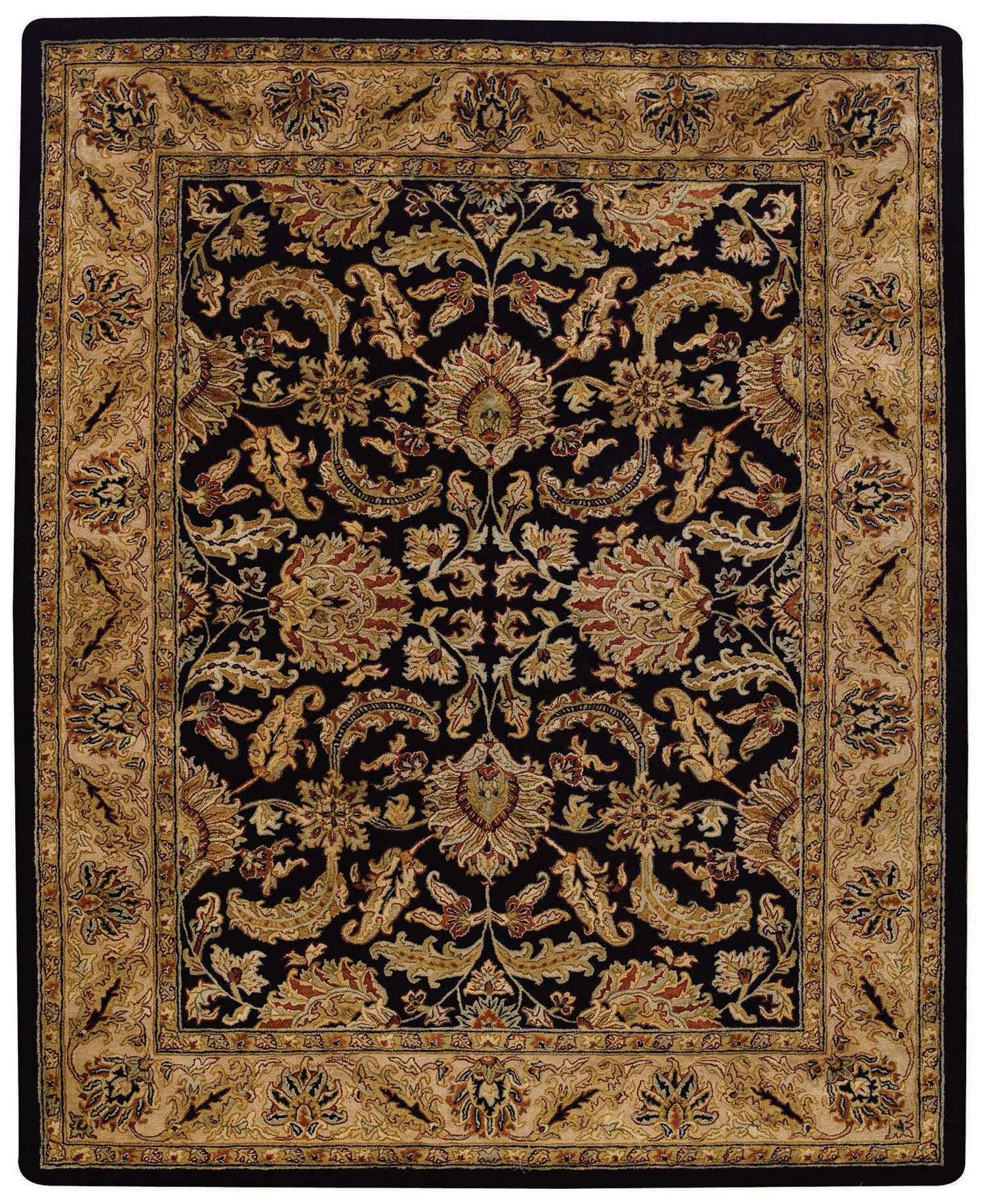 Capel Forest Park Floral Scroll 9294 Black/Beige 350 Area Rug main image