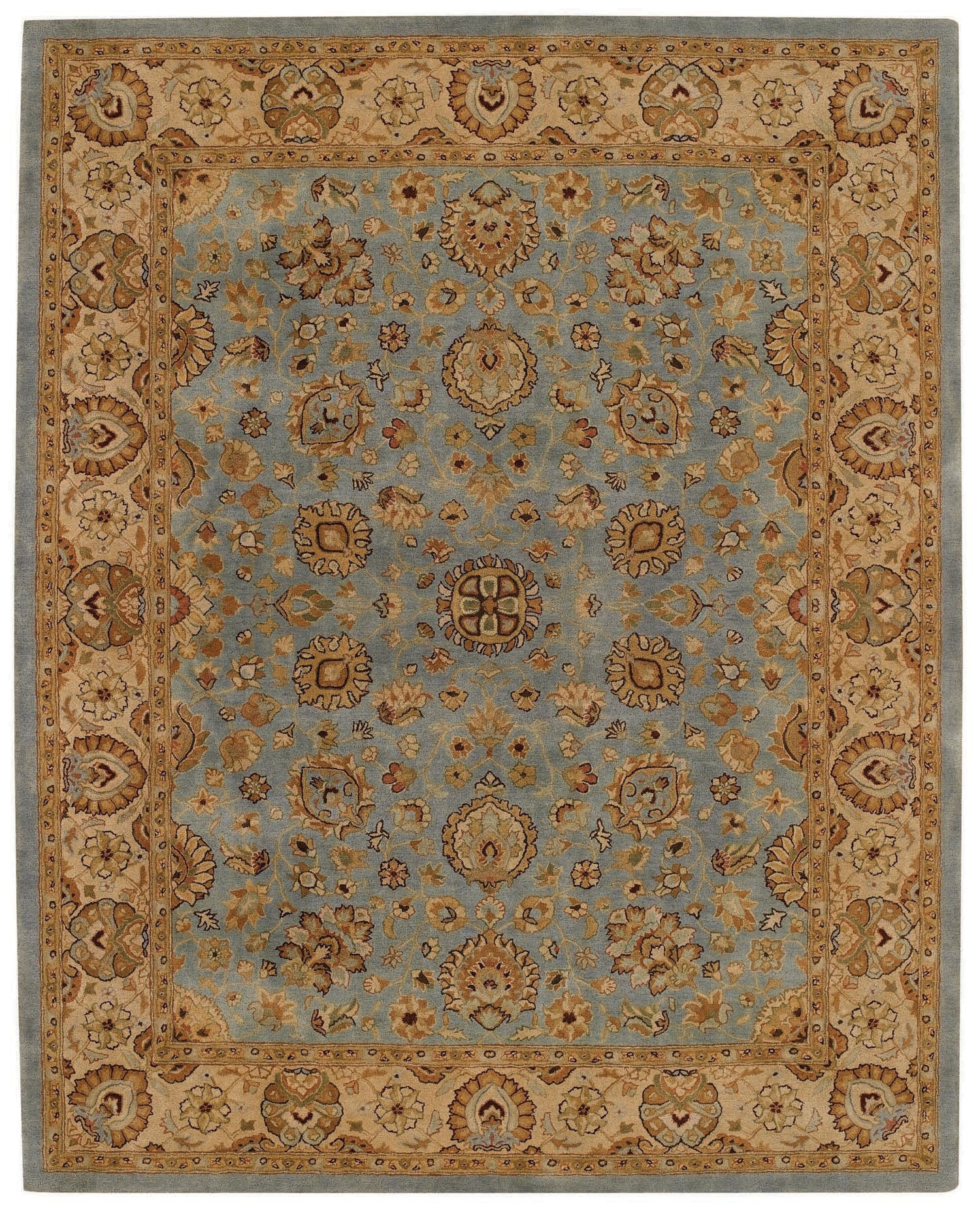 Capel Forest Park Medallions 9296 Medium Blue/Gold 400 Area Rug main image
