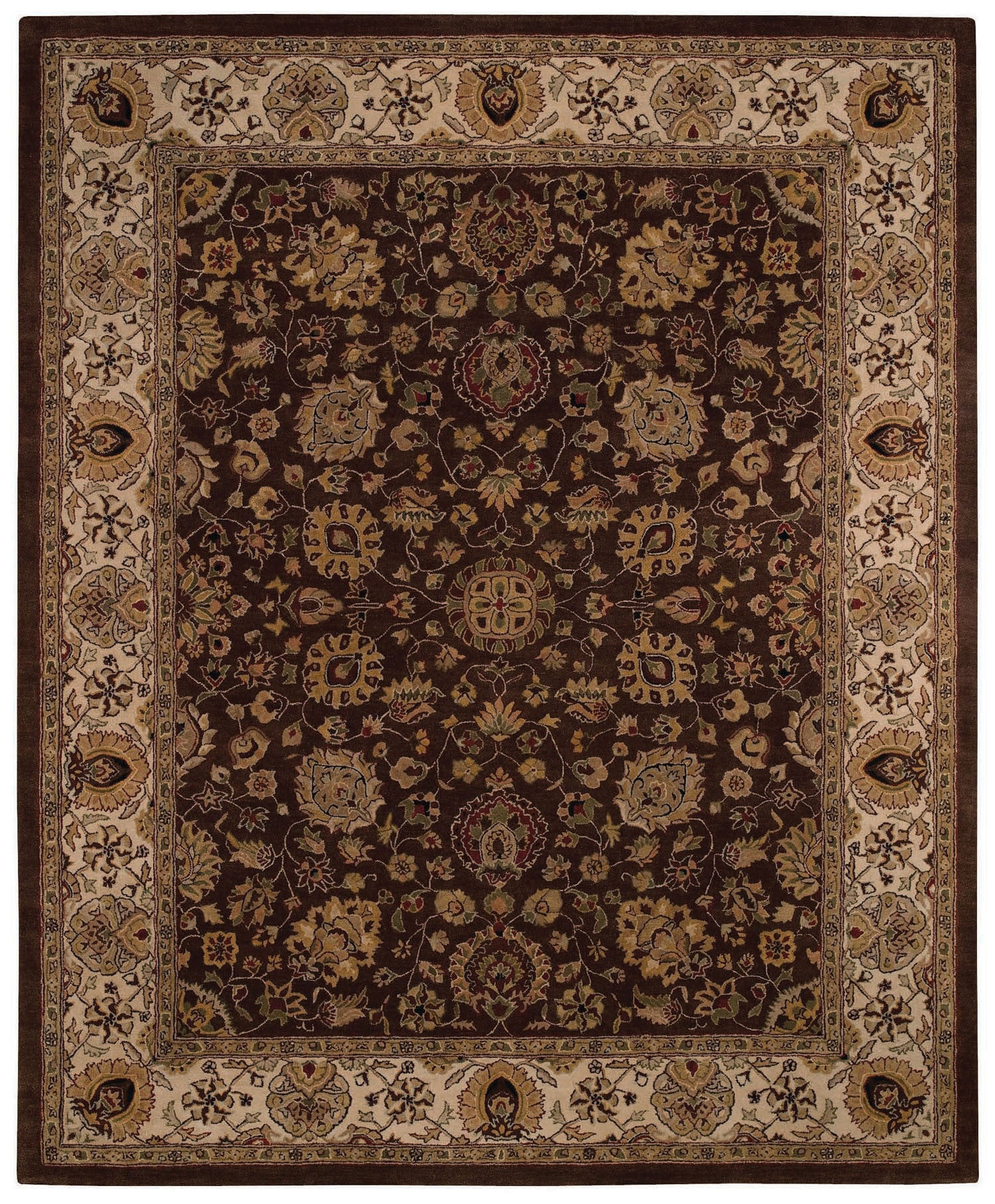 Capel Forest Park Medallions 9296 Dark Coffee 750 Area Rug main image