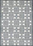 Couristan Madera Alden White/Black Hand Woven Area Rug