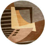 Momeni New Wave NW-22 Ltbrown Hand Tufted Area Rug