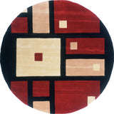 Momeni New Wave NW-50 Black Hand Tufted Area Rug